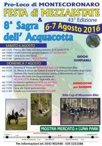 Festa di mezzaestate e Sagra dell'acquacotta a Montecoronaro